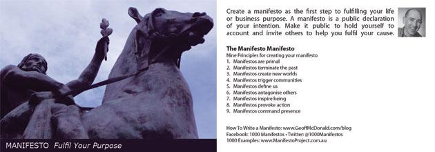 1000 Manifestos - Postcard