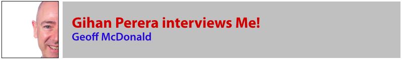 Gihan Perera interviews Geoff McDonald