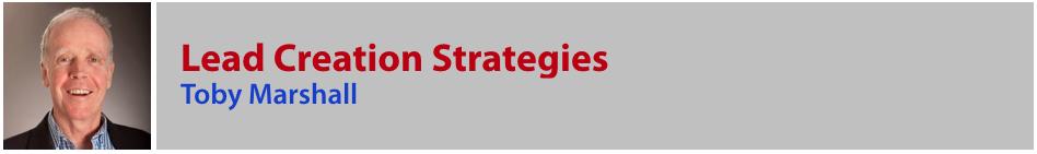 Toby Marshall - Lead Creation Strategies
