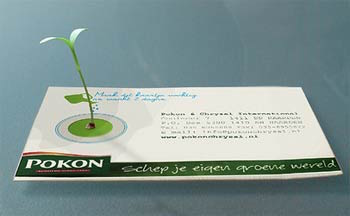 business card - plant grows