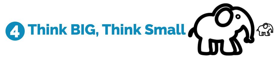 4 Think BIG, think small