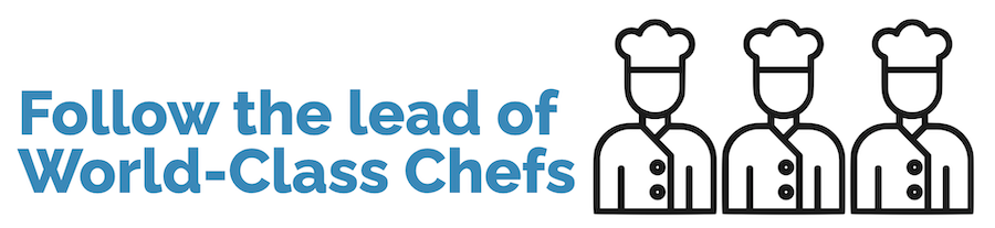 Follow the lead of world-class chefs