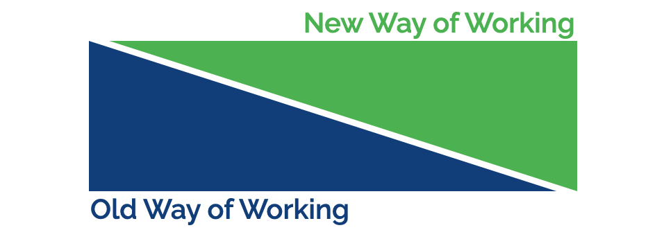 Transition from old to new ways of working